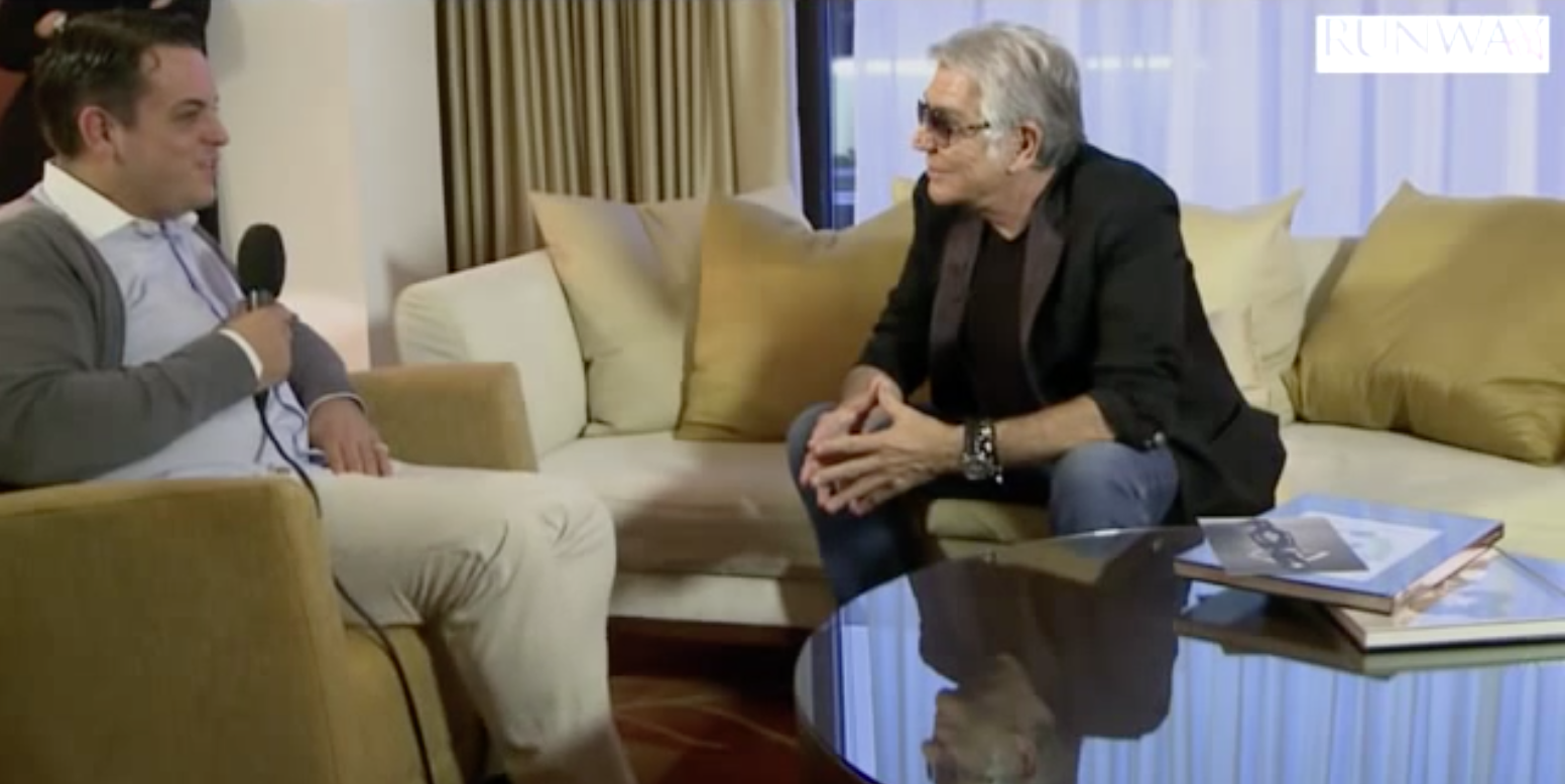 Roberto Cavalli Exclusive RUNWAY TV interview